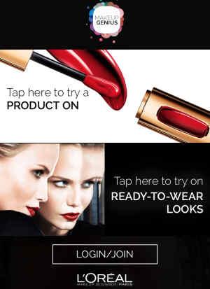 makeup genius try on list