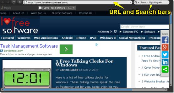 nightingale web browser