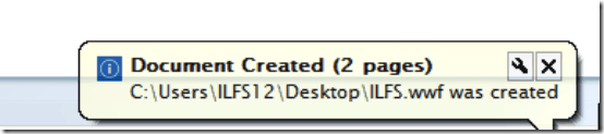 notification wwf creation