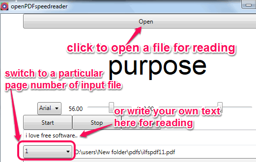 open a file for reading or write own custom text