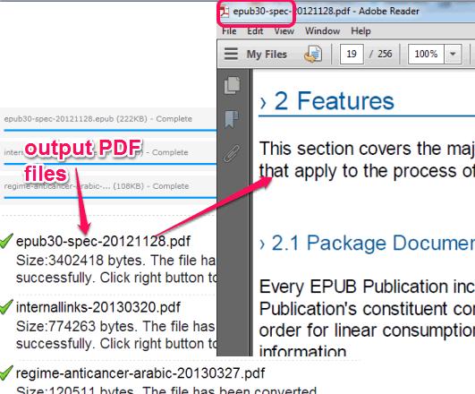 output PDF files