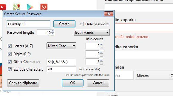 password generator addons Firefox 2