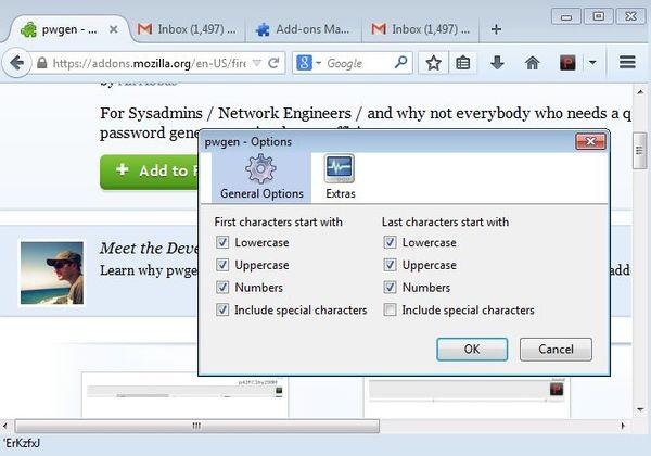 password generator addons Firefox