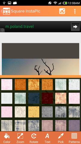 patterns in Square InstaPic for Android