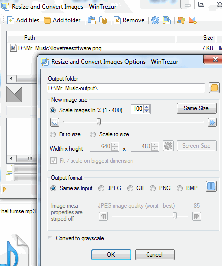resize and convert images