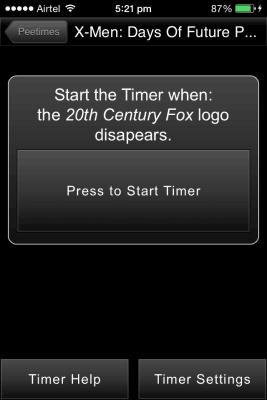 runpee timer settings