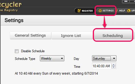 schedule scanning