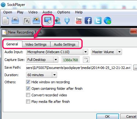 screen recording settings