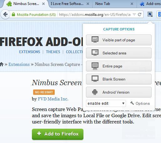 screenshot addons firefox 2