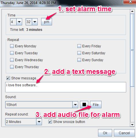set a new alarm