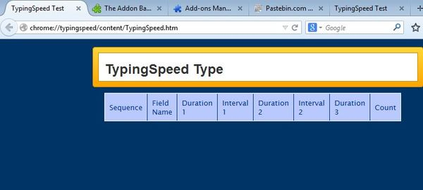 speed typing addons firefox 4