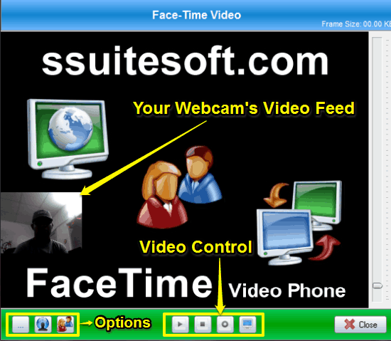 ssuite videophone facetime call