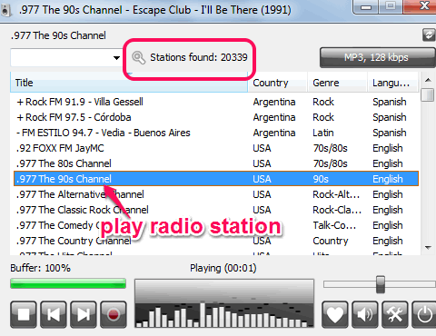 Free Internet Radio Player To Stream and Record Radio Stations