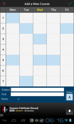 timetable apps for android 2