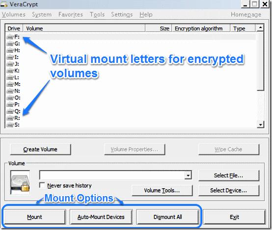 veracrypt main ui