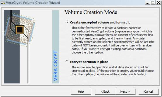 volume wizard step 3