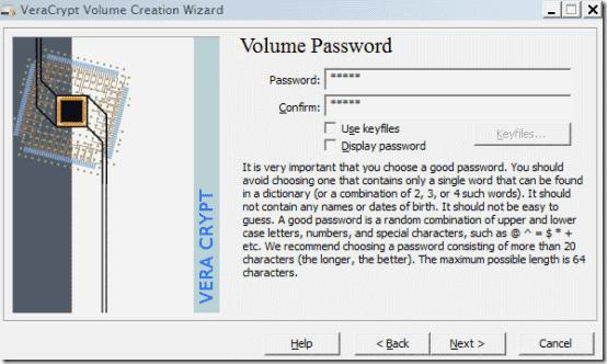 volume wizard step 4
