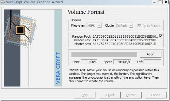 volume wizard step 5