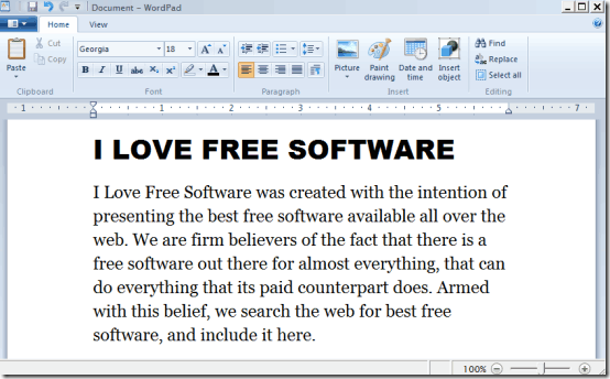 wordpad with save as wwf