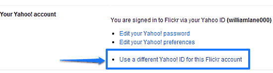 yahoo account settings page
