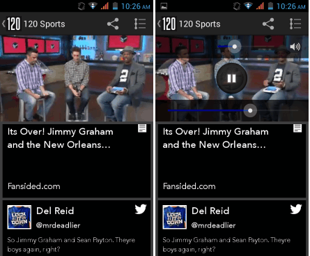 Best option for live sports on android