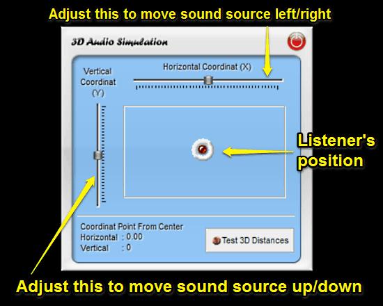 3D sound simulation module