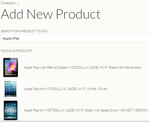 Adding New Product
