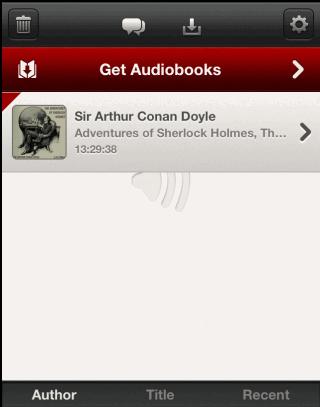 Audiobook App Homepage
