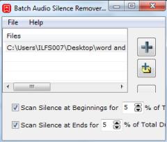 Batch Audio Silence Remover