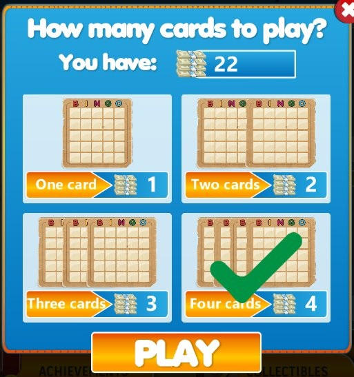 Bingo Star-Choose card