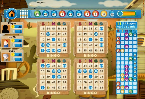 Bingo Star-Four card