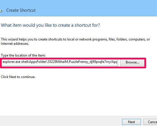 Create Shortcut-Step 5
