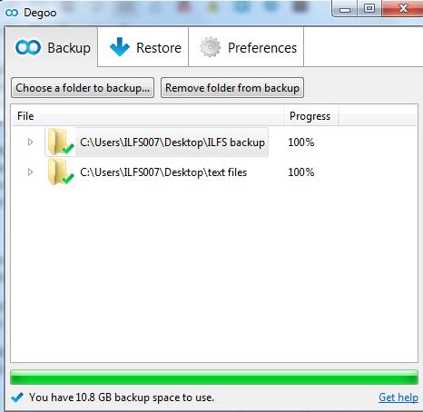 Degoo- backup files online