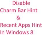 Disable Charm Bar
