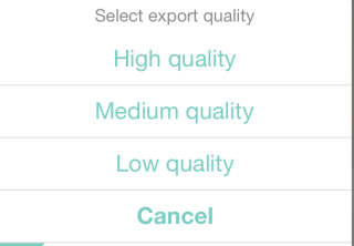 Export Video Quality