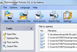 FILEminimizer Pictures