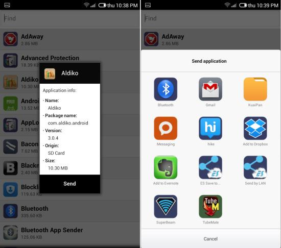 Free Bluetooth App Sender For Android sending apps to other devices