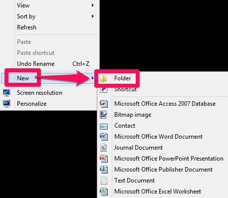 God Mode-Create Folder