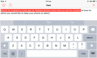 Hark - Quick Text to Speech