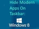 Hide Modern Apps On Taskbar
