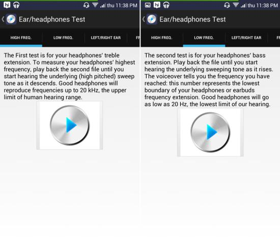 How to test headphones with Ultimate Ear Headphone Test for Android