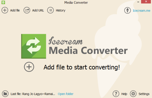 IceCream Media Converter- interface