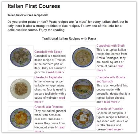 Italian Food recipes