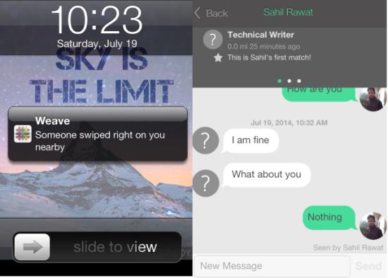 Matching Notification and Chatting