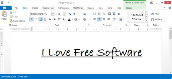 Merge Word 2014