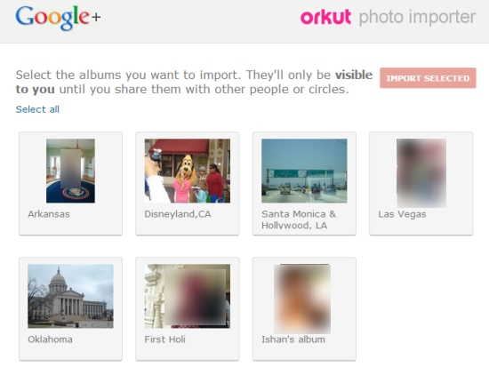 Orkut Photo Importer Home Page