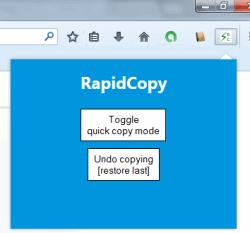 RapidCopy- auto copy text to clipboard