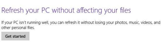 Refresh Windows 8-Refresh