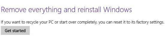 Refresh Windows 8-Reset
