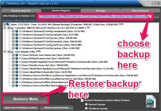 Registry Backup-Restore Now